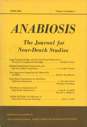 Primary view of object titled 'Anabiosis: The Journal of Near-Death Studies, Volume 3, Number 1, June 1983'.