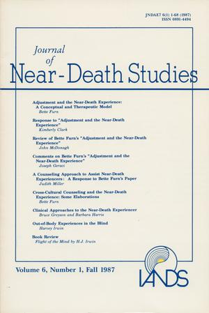 Primary view of object titled 'Journal of Near-Death Studies, Volume 6, Number 1, Fall 1987'.