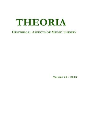 Primary view of object titled 'Theoria, Volume 22, 2015'.