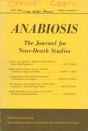 Primary view of object titled 'Anabiosis: The Journal of Near-Death Studies, Volume 4, Number 2, Fall 1984'.
