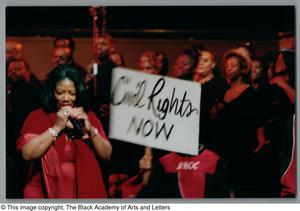 Primary view of object titled '[Black Music and the Civil Rights Movement Concert Photograph UNTA_AR0797-137-03-36]'.