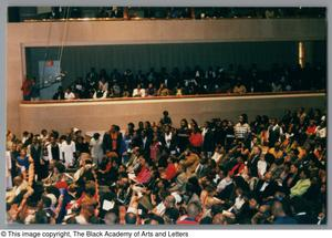 Primary view of object titled '[Black Music and the Civil Rights Movement Concert Photograph UNTA_AR0797-144-33-42]'.