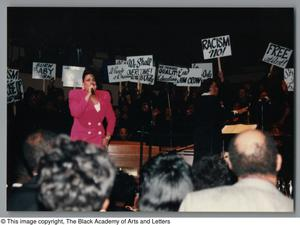 Primary view of object titled '[Black Music and the Civil Rights Movement Concert Photograph UNTA_AR0797-144-35-32]'.