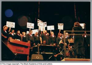 Primary view of object titled '[Black Music and the Civil Rights Movement Concert Photograph UNTA_AR0797-145-06-73]'.