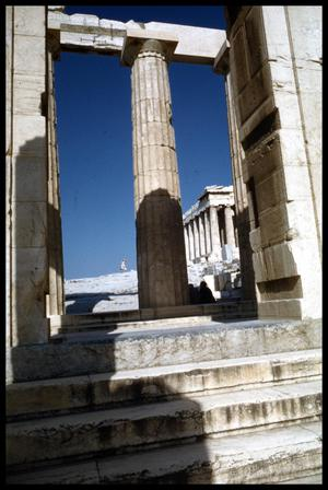 Primary view of object titled '[View through Propylaea]'.