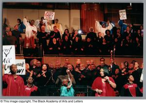 Primary view of object titled '[Black Music and the Civil Rights Movement Concert Photograph UNTA_AR0797-137-03-40]'.