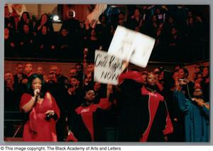 Primary view of object titled '[Black Music and the Civil Rights Movement Concert Photograph UNTA_AR0797-137-03-31]'.