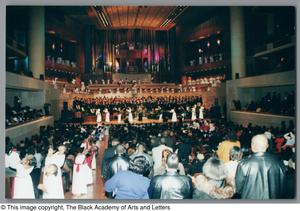 Primary view of object titled '[Black Music and the Civil Rights Movement Concert Photograph UNTA_AR0797-145-06-32]'.