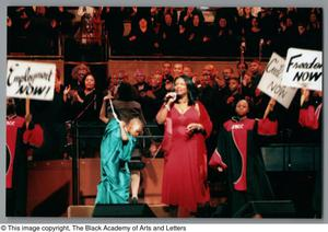 Primary view of object titled '[Black Music and the Civil Rights Movement Concert Photograph UNTA_AR0797-137-03-30]'.