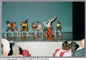 Primary view of object titled '[Weekend Festival of Black Dance Photograph UNTA_AR0797-139-14-18]'.