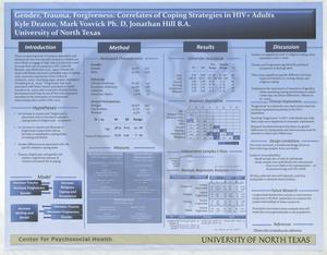 Gender, Trauma, Forgiveness: Correlates of Coping Strategies in HIV+ Adults