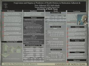 Forgiveness and Stigma as Predictors of Health Distress in Medication Adherent & Non-Adherent HIV-Individuals