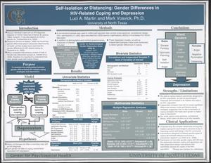 Self-Isolation or Distancing: Gender Differences in HIV-Related Coping and Depression