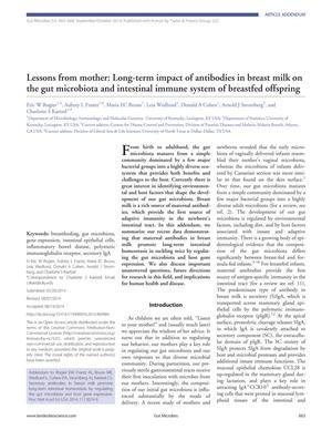 Primary view of object titled 'Lessons from mother: Long-term impact of antibodies in breast milk on the gut microbiota and intestinal immune system of breastfed offspring'.