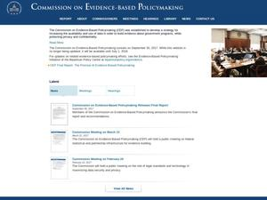 Primary view of object titled 'Commission on Evidence-Based Policymaking'.