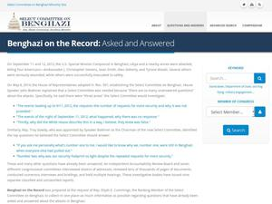 Primary view of object titled 'Benghazi on the Record: Asked and Answered'.