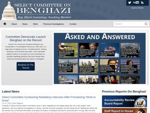 Primary view of object titled 'The Select Committee on Benghazi: Minority Website'.