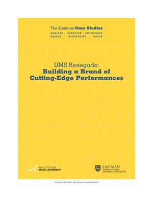 UMS Renegade: Building a Brand of Cutting-Edge Performances
