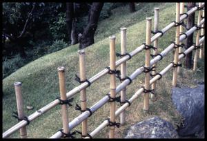 Primary view of object titled '[Bamboo fence]'.