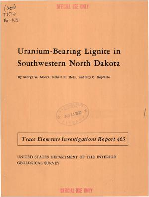 Primary view of object titled 'Uranium-Bearing Lignite in Southwestern North Dakota'.