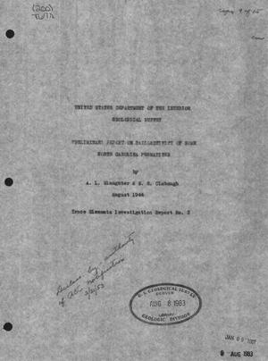 Primary view of object titled 'Preliminary Report on Radioactivity of Some North Carolina Pegmatites'.
