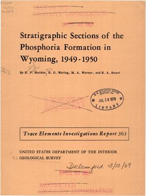 Primary view of object titled 'Stratigraphic Sections of the Phosphoria Formation in Wyoming, 1949-1950'.