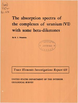 Primary view of The Absorption Spectra of Complexes of Uranium (VI) with Some [beta]-Diketones