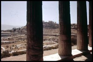 Primary view of object titled '[View from the Theseion]'.