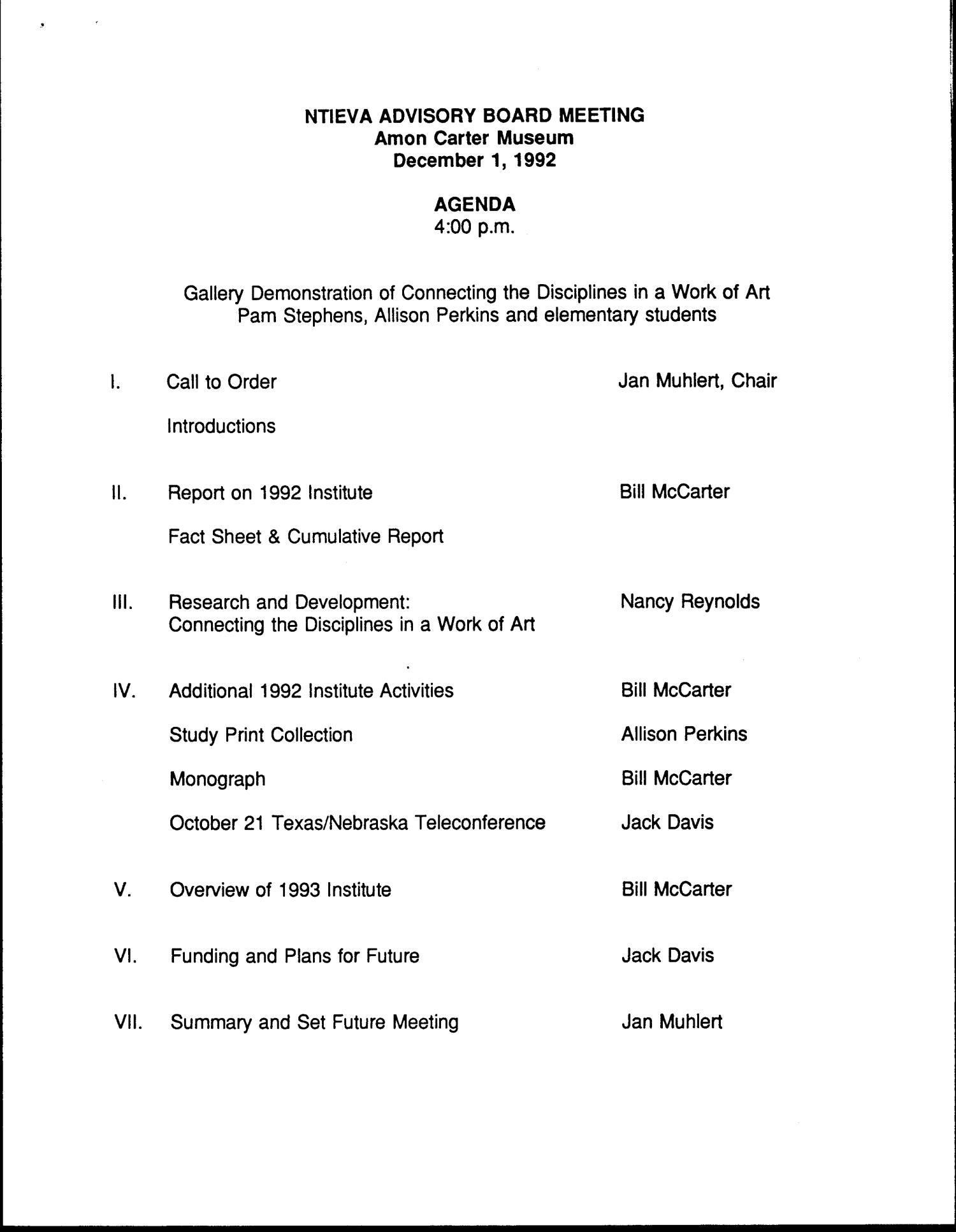 NTIEVA Advisory Board Meeting Agenda, December 30, 30992   UNT ...