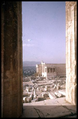 Primary view of object titled '[View of Erechtheion from Parthenon]'.