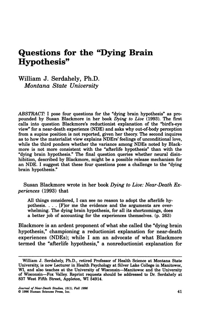 can a hypothesis be a question