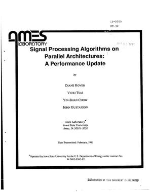 Signal processing algorithms on parallel architectures: A