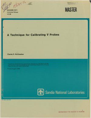 Primary view of object titled 'Technique for calibrating V probes'.