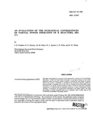 Primary view of object titled 'An evaluation of the ecological consequences of partial-power operation of the K Reactor, SRS'.