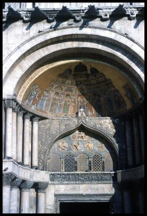 Primary view of object titled '[St. Mark's Basilica doorway]'.