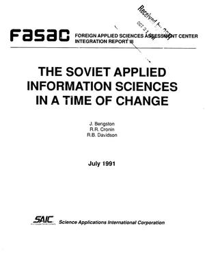 Primary view of object titled 'The Soviet applied information sciences in a time of change'.