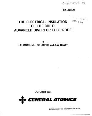 Primary view of object titled 'The electrical insulation of the DIII-D advanced divertor electrode'.
