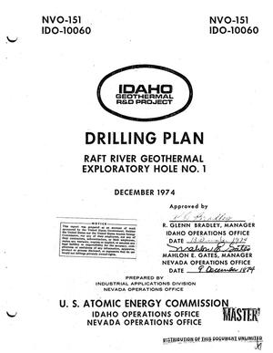 Primary view of Drilling plan. Raft River Geothermal Exploratory Hole No. 1. Idaho Geothermal R and D Project