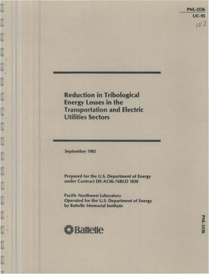 Primary view of object titled 'Reduction in tribological energy losses in the transportation and electric utilities sectors'.