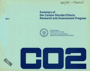 Primary view of object titled 'Summary of the carbon dioxide effects research and assessment program'.