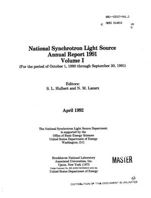 Primary view of object titled 'National Synchrotron Light Source annual report 1991'.