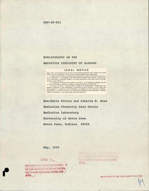 Primary view of object titled 'BIBLIOGRAPHY ON THE RADIATION CHEMISTRY OF ALKANES.'.