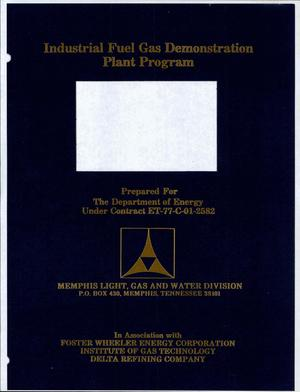 Primary view of object titled 'Industrial Fuel Gas Demonstration Plant Program. Monthly, quarterly and annual progress report, December 1978 and Calender Year 1978'.