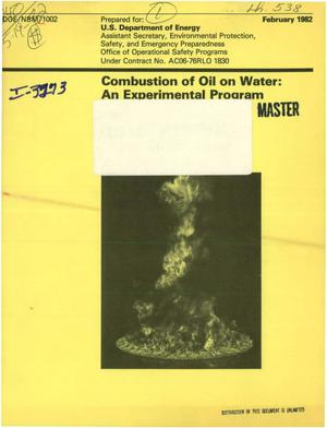 Primary view of object titled 'Combustion of oil on water: an experimental program'.