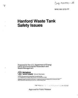 Primary view of object titled 'Hanford waste tank safety issues'.