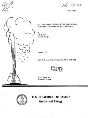 Primary view of object titled 'Preliminary definition of the geothermal resources potential of West Virginia'.