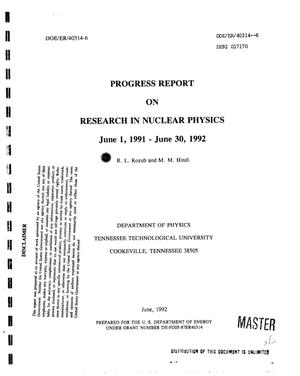 Primary view of object titled 'Research in nuclear physics'.