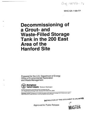 Decommissioning of a grout- and waste-filled storage tank in the 200 East Area of the Hanford Site