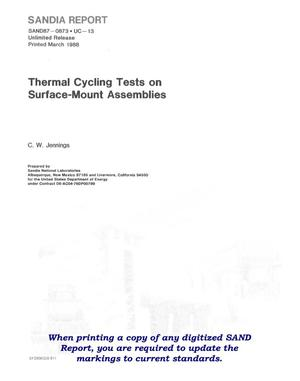 Primary view of object titled 'Thermal cycling tests on surface-mount assemblies'.