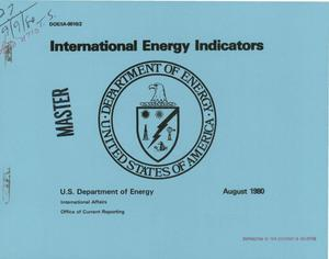 Primary view of object titled 'International energy indicators'.